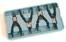 """7"""" Circlip Pliers Set 4pc x 180mm Internal External Straight & Bent Offset HILKA"""