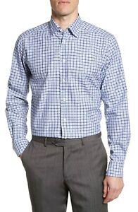 BNWT Eton Contemporary Fit Print Dress Shirt Size 18 MSRP $195!!!