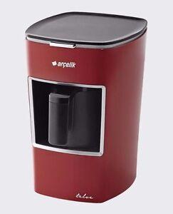 RED Arcelik Telve Automatic Greek Turkish Coffee Espresso Maker Machine K3300
