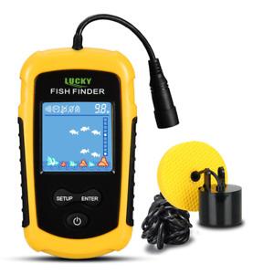 100m Sonar Fish Finder Portable Alarm Sensor Echo Sounder Fishing Fishfinders