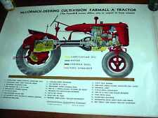 VERY RARE McCormick-Deering Culti-Vision Farmall A Tractor Color Poster  NICE!!!