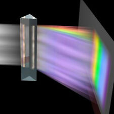 Optical Glass Triple Triangular Prism Physics Teaching Light Spectrum 8cm New