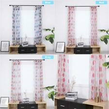 Window Curtain Blackout Blinds Polyester Fabric Circle Digital Print Woven Homes