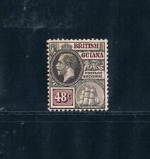 British Guiana 1913-21 - 48¢ KGV - Blk & Violet-Brown - SC 185 [SG 266] Mint 19