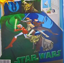~ Star Wars - CLONE WARS DOUBLE DOONA QUILT DUVET COVER Full Yoda