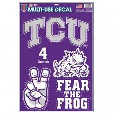 "TCU Horned Frogs 11"" x 17"" Multi Use Decals - Auto, Walls, Windows, Cornhole"