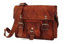 """15"""" New Men's Leather messenger shoulder bag vintage briefcase laptop bags 15"""""""