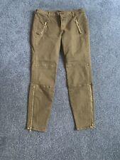 Women's J Brand Houlihan Vintage Olive Green Cotton Cargo Ankle Jeans Size 29