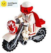 toy026 Lego Disney Pixar Toy Story 10767 - Duke Caboom Minifigure w Bike & Hair