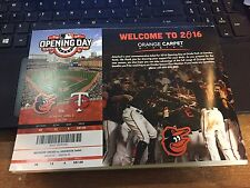 2016 BALTIMORE ORIOLES SEASON TICKET STUB PICK YOUR GAME MACHADO DAVIS JONES 1