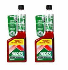 2 x REDEX PETROL FUEL SYSTEM TREATMENT CLEANER EMISSIONS EXHAUST 2 500ml BOTTLES