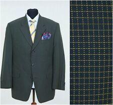 Mens Dark Blue Check Jacket ROSNER Summer Cotton Blazer SIZE L Large, UK 40