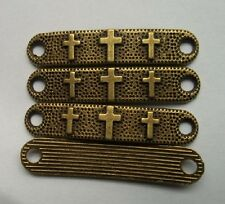 "10pcs bronze plated ""cross"" charms connector"