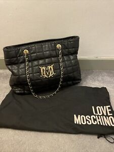 Love Moschino Quilted Style Shoulder Tote Bag Read Description