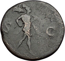 DOMITIAN as CAESAR 80AD Thrace Sestertius Mars Ancient Roman Coin i56061