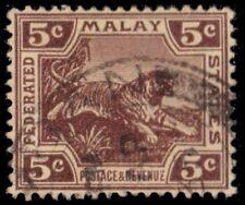 """MALAYA 59 (SG62) - Malayan Tiger """"1932 Printing"""" (pa23298)"""