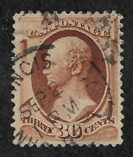 US #217 (1888) 30c Alexander Hamilton - Brown - Used - Thin - VF