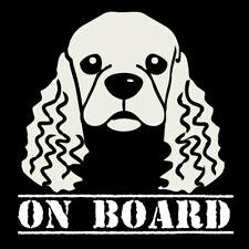 Cocker Spaniel dog on board car sticker decal