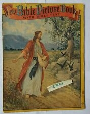 SAALFIELD PUB CO The Bible Picture Book with Text 2924 Copyright 1941 OHIO
