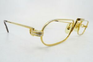 Vintage gold filled Cartier Paris eyeglasses frames mod DEMI LUNE France EXC