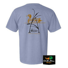 NEW AVERY OUTDOORS A-CATTAIL LOGO S/S T-SHIRT ICE BLUE LARGE