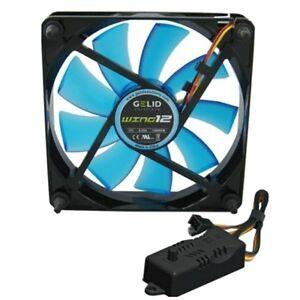 Fan For Case PC 120mm Gelid Wing 12 Blue Fan 120 120 x 25 UV + RPM Controller
