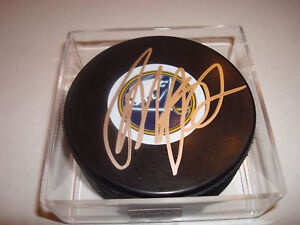 Tyler Myers Signed Autographed Buffalo Sabres Hockey Puck a