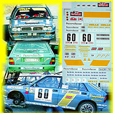 Lancia Delta Evo Jambon de canard Rallye Monte-Carlo 1990 H.Lumineux #60 1:24
