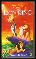 THE LION KING - WALT DISNEY CLASSICS - VHS PAL (UK) VIDEO - HOLOGRAMS