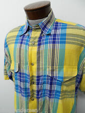 WRANGLER WESTERN CASUAL SHIRT sz XL mens button down plaid#71