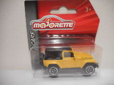 Véhicules miniatures jaunes en plastique pour Jeep