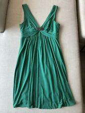 Women's BCBG MaxAzria Green Dress with Brooch, M (Size 6-8), Excellent Condition