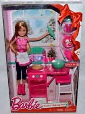 NEW-2015-ONLY AT TARGET STACIE BARBIE DOLL SISTERS' BAKING FUN- OVEN, MITT +MORE