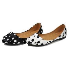 Spring Women Shoes Elegant Walk Slip-on Loafers Casual Cozy Polka Dot Flat Pumps