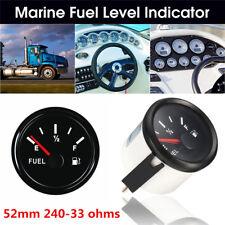 Universal Vehicles Boat Fuel Level Gauge Tank Indicator 52mm 12/24V 240-33 Ohms