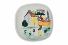 A Rorstrand pottery dish Hand painted rural scene Swedish pottery