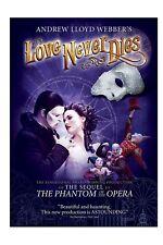 ANDREW LLOYD WEBBER LOVE NEVER DIES Blu-ray Phantom of the Opera Brett Sullivan