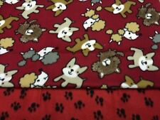 Poodle Boston Terrier Paw Prints Pet Blanket Can Personalize Double Sided 28x22