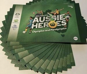 Woolworths Aussie Olympic Heroes Stickers - 31 Packets