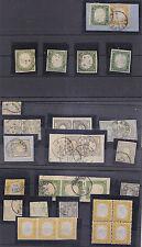 J831-SARDEGNA-ITALIA 1855/1862 LOTTO DI FRANCOBOLLI E FRAMMENTI