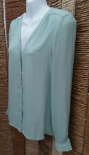 FOREVER 21 BNWT Long Sleeve Mint Green Blouse Shirt Size Small RRP £13