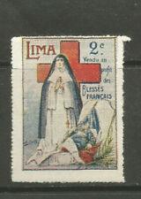 Peru/Lima/Wwi 2c Red Cross Delandre poster stamp/label