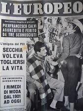 L' EUROPEO n°5 1955 Pierfrancesco Calvi e Ursula Andress in copertina [C76]