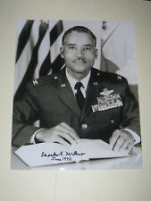 Pilot CHARLES MCGEE Signed 8x10 Photo TUSKEGEE AIRMAN AUTOGRAPH 1