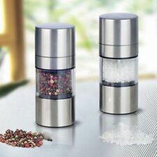 Pepper Mill Stainless Steel Spice Salt Manual Grinder Cook Tool Kitchen Gadget