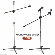 MICROPHONE STAGE STAND ADJUSTABLE MIC STAND BOOM FOLDABLE TRIPOD AU