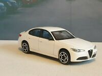 NEW BOYS TOYS ALFA ROMEO GIULIA- WHITE 1.43 PERSONALISED MODEL CAR BOXED PRESENT