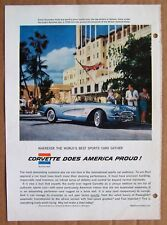 MAGAZINE AD ~ 1958 CORVETTE ~ SPORTS ILLUSTRATED ~ 1958