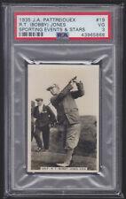 Pattreiouex - Sporting Events & Stars 1935 - Bobby Jones - Golf - PSA 3 VG