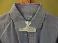 TRUZZI Milano Blue-Lavender Dress Shirt 16/41 Spread Collar SUPERB